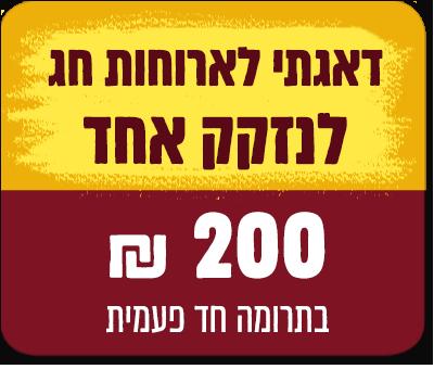 """סעודת חג לנזקק אחד - 200 ש""""ח - 200 ₪"""